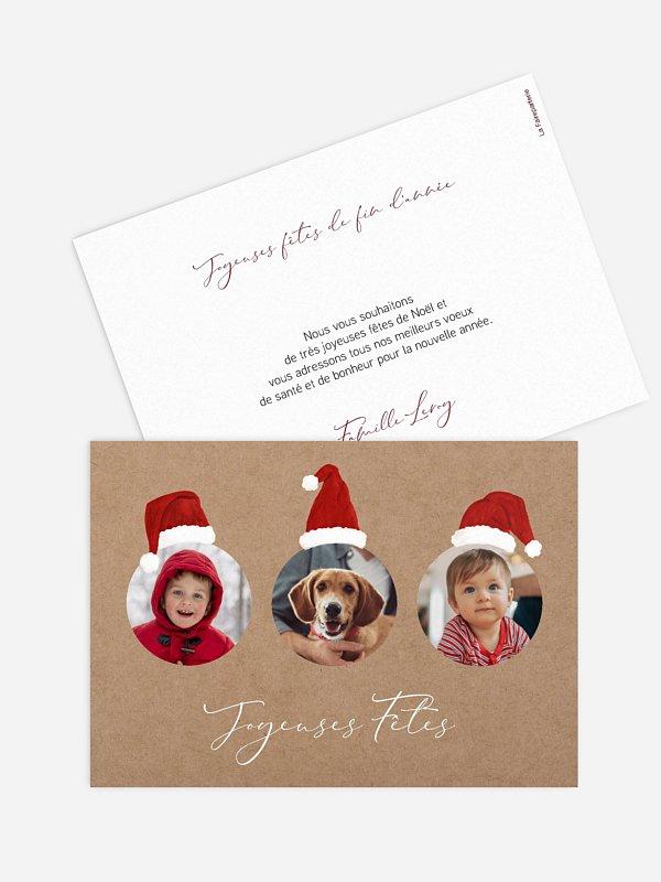 Carte de Noël Lutins de Noël