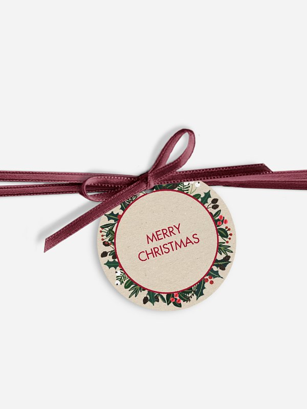 Geschenkeanhänger Delicate Wreath