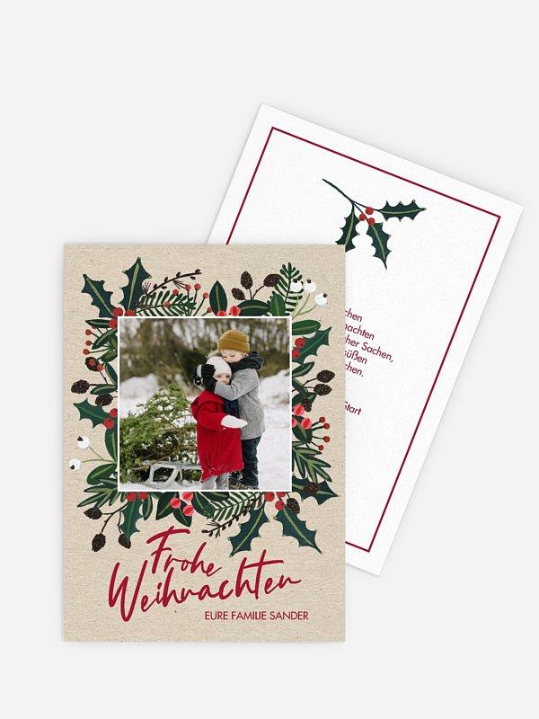 Weihnachtskarte Holiday Greetings
