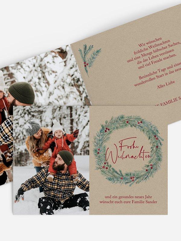 Weihnachtskarte Warm & Wonderful