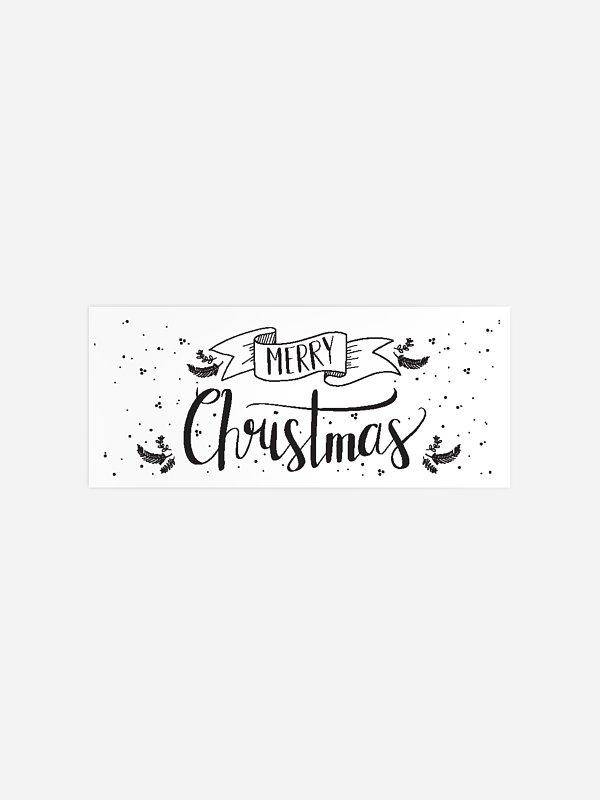 Geschenkaufkleber Weihnachten Lettering Christmas