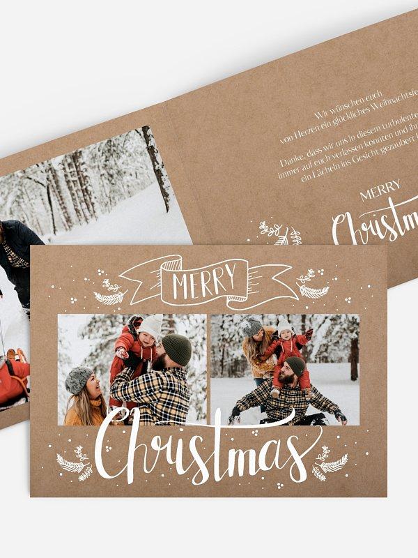 Weihnachtskarte Lettering Christmas