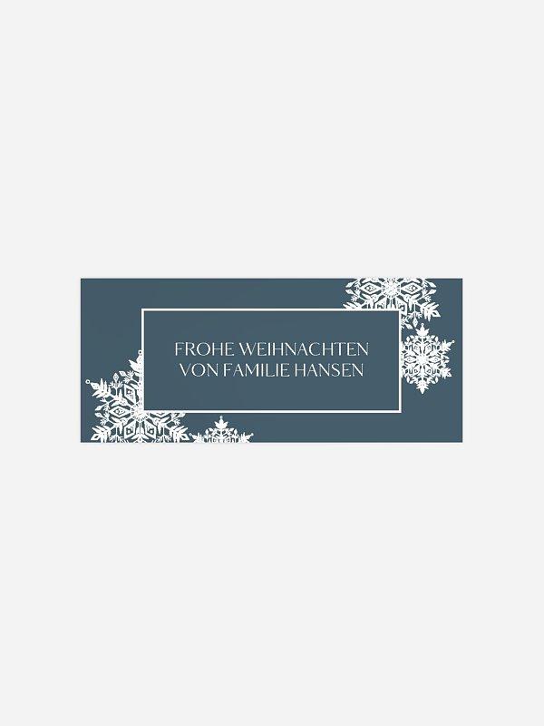 Geschenkaufkleber Weihnachten Soft Snowflake