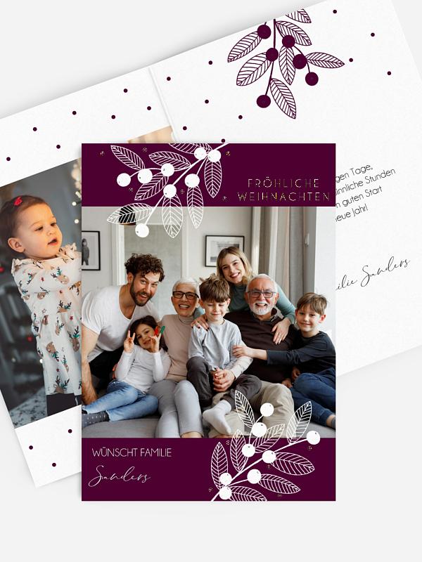 Weihnachtskarte Lovely Mistletoe