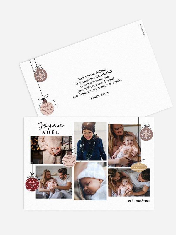 Carte de Noël Boules enchantées