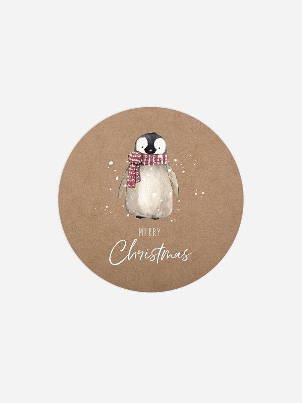 Geschenkaufkleber Weihnachten Schneezauber