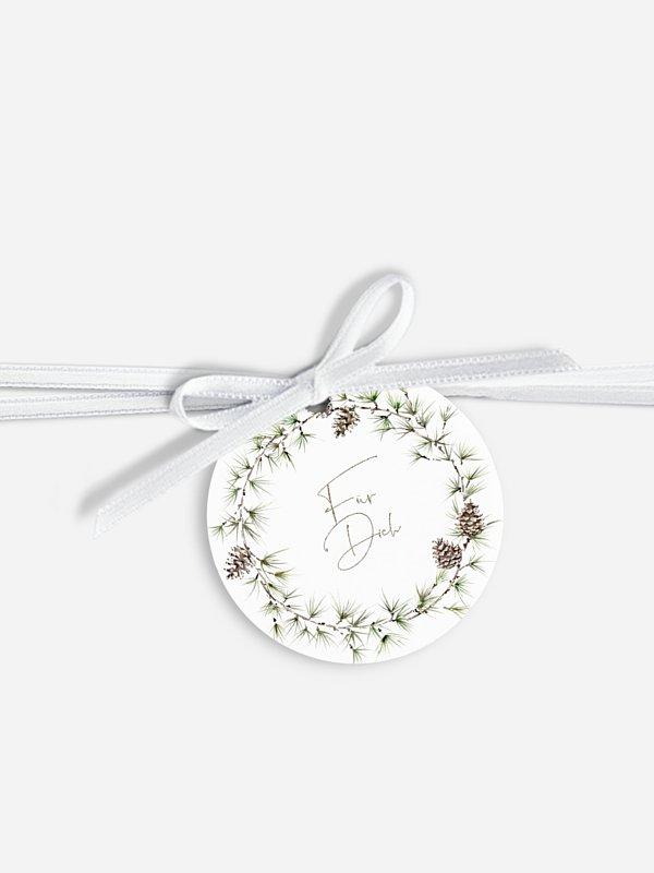 Geschenkeanhänger Larch Wreath
