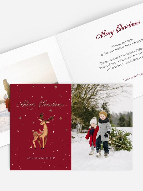 Weihnachtskarte Sweet Deer