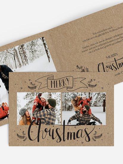Lettering Christmas Kraftpapier