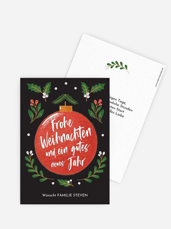 Weihnachtskarte Holly Jolly ohne Foto