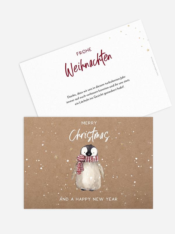 Weihnachtskarte Schneezauber ohne Foto