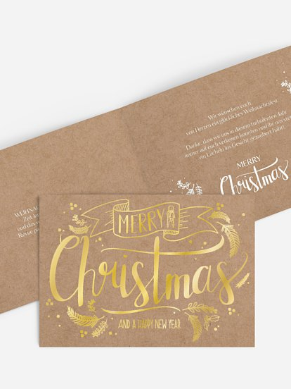Lettering Christmas ohne Foto