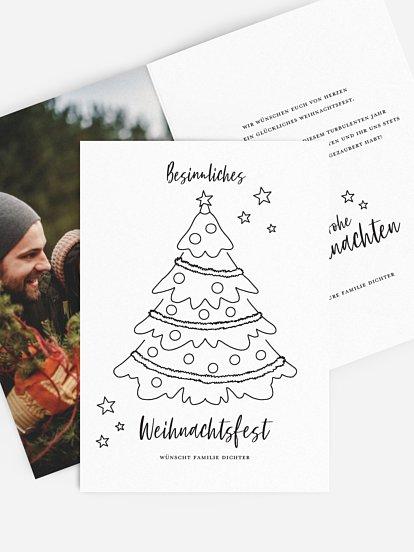"""weihnachtskarte """"schwungvoll"""""""