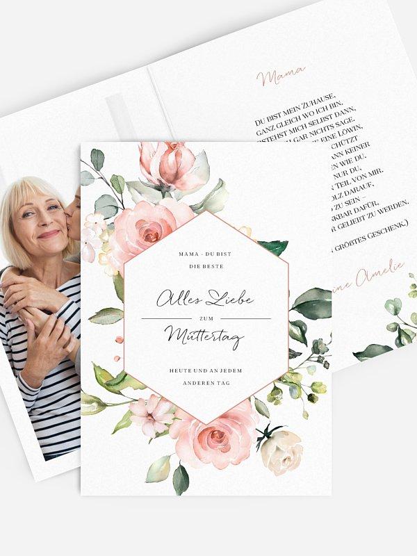 Grußkarte Soft Florals