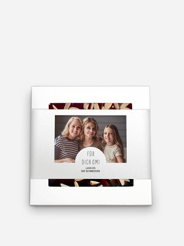 Schokolade Muttertag Geschenkbox Familien Collage