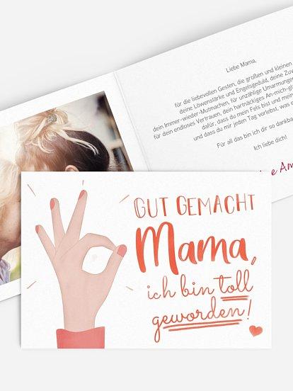 """Grußkarte """"Gut gemacht Mama"""""""