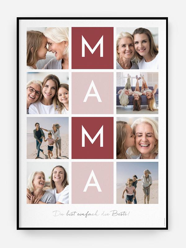 Poster Muttertag Buchstabensalat