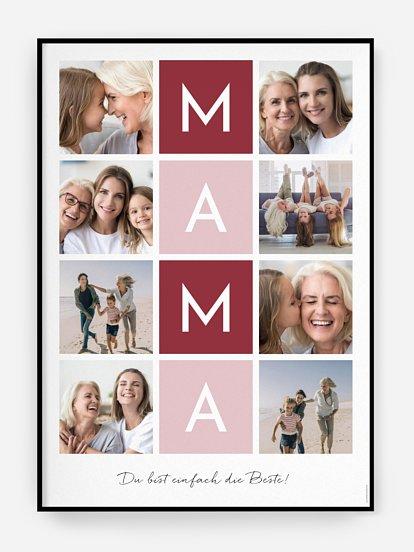"""Poster Muttertag """"Buchstabensalat"""""""