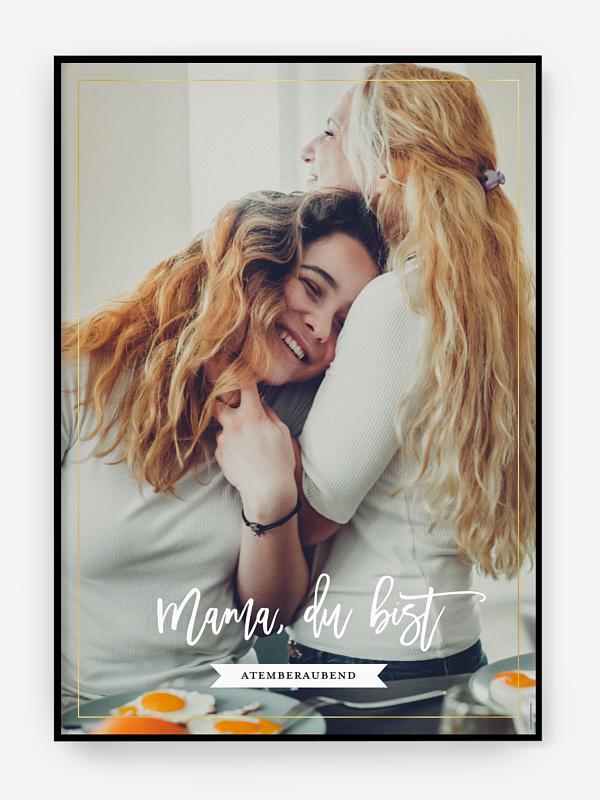 Poster Muttertag Du bist...