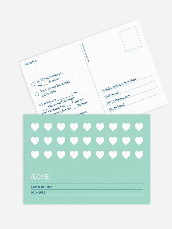Antwortkarte Hochzeit Herzvoll