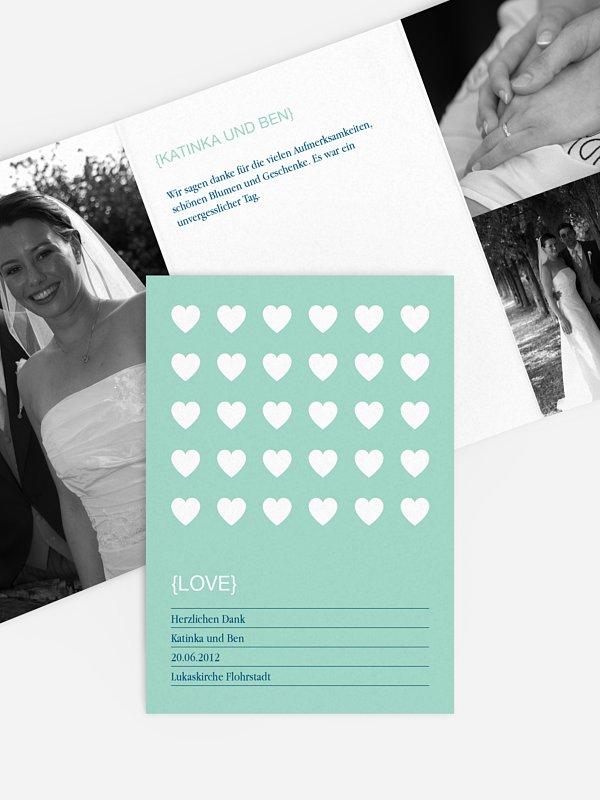 Dankeskarte Hochzeit Herzvoll