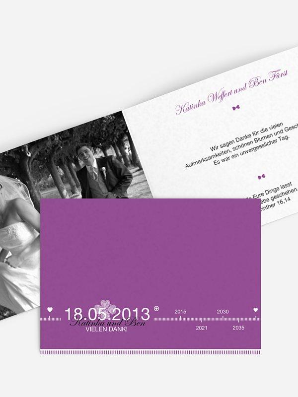 Dankeskarte Hochzeit Timeline