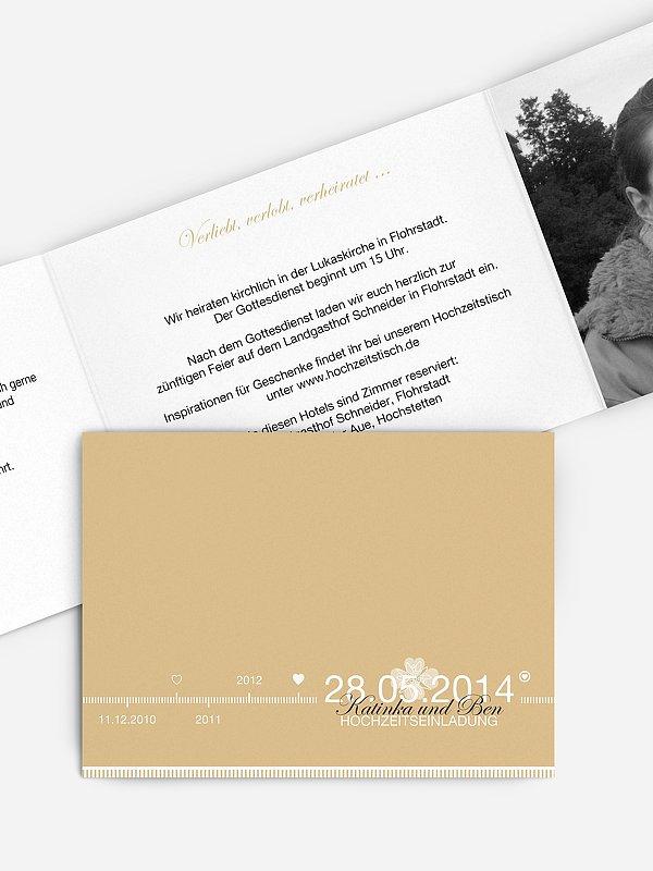 Hochzeitseinladung Timeline