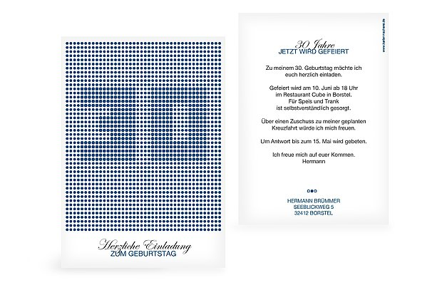 geburtstagseinladungen – einladungskarten zum geburtstag in 1-2 tagen, Einladungen