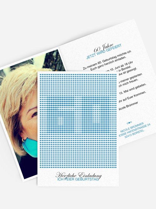Einladung 60. Geburtstag Dots