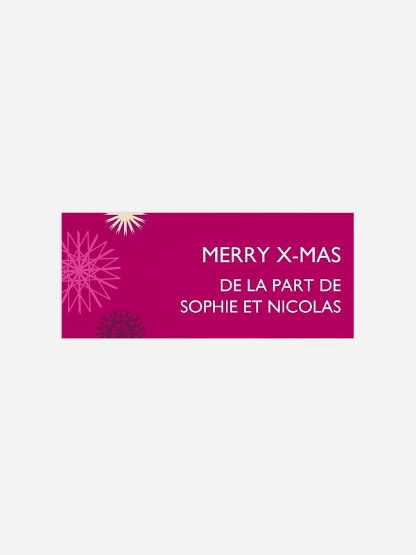 Étiquette cadeau Noël Mille flocons