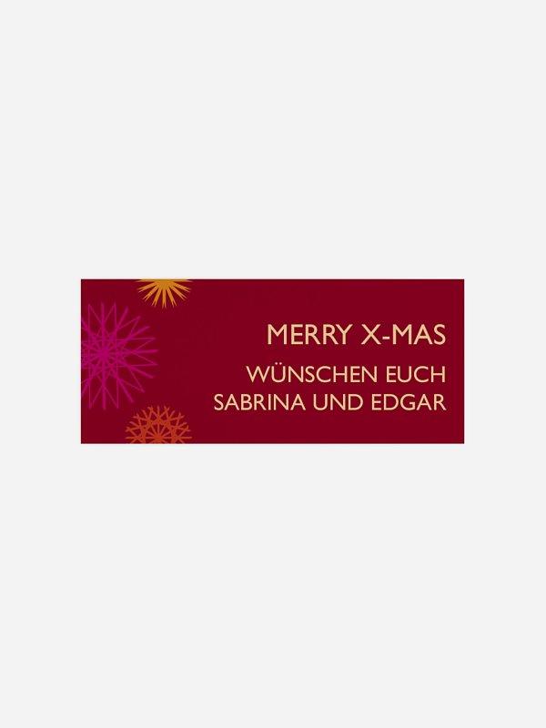 Geschenkaufkleber Weihnachten Strohsterne