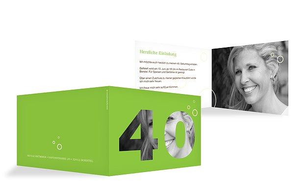 Einladung 40. Geburtstag Zahlreich
