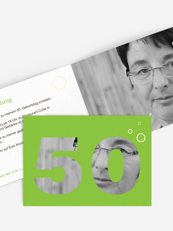 Einladung 50. Geburtstag Zahlreich