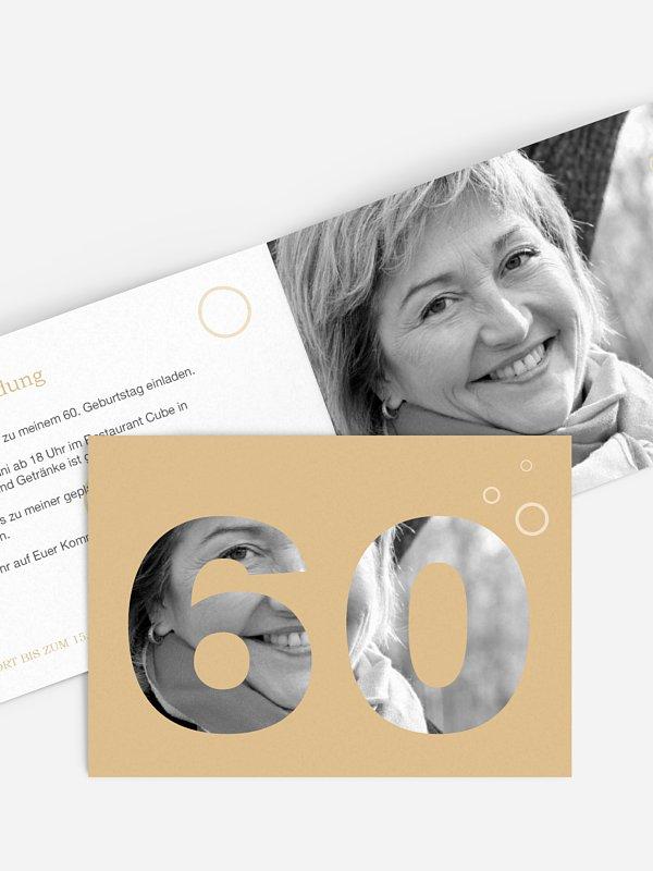 Einladung 60. Geburtstag Zahlreich