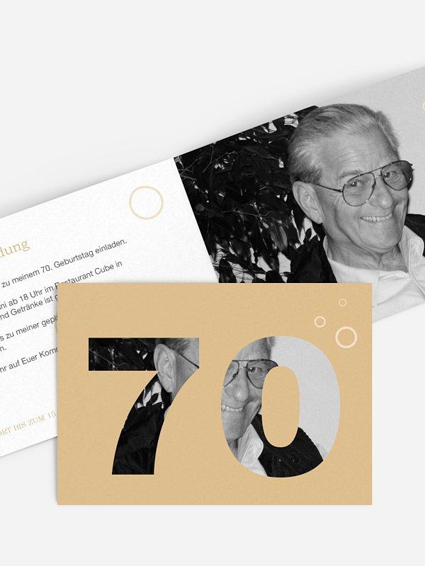 Einladung 70. Geburtstag Zahlreich