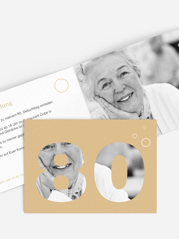 Einladung 80. Geburtstag Zahlreich