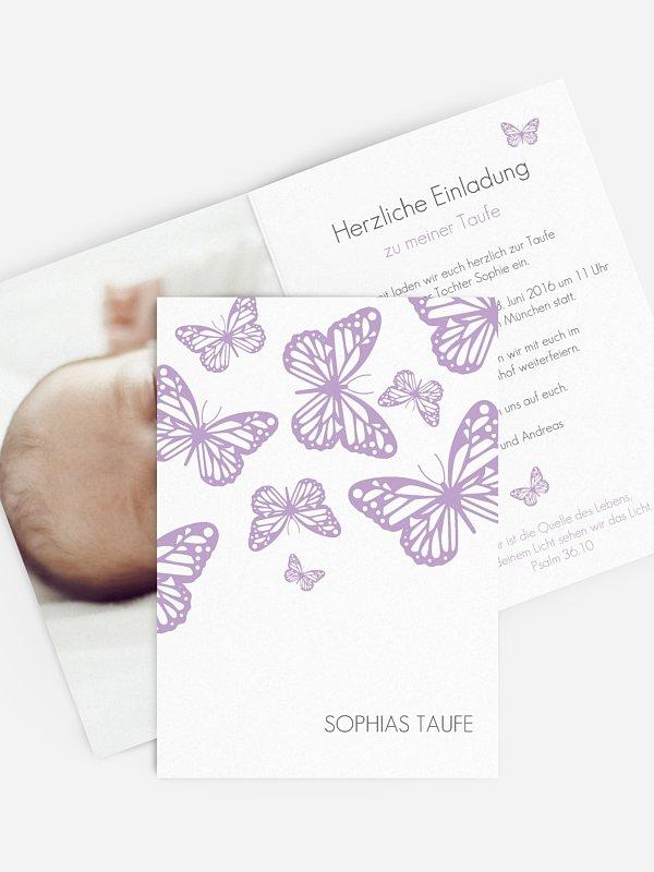 Taufeinladung Schmetterlingszauber