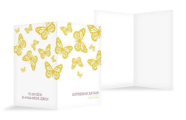 Kirchenheft Taufe Schmetterlingszauber
