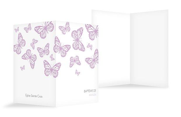 Livret de messe baptême Vol de papillons