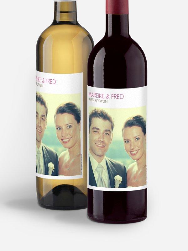 Flaschenetikett Hochzeit Formklar