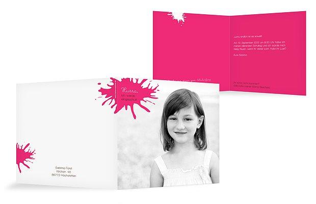 Einladung Einschulung Farbklecks · Farbreich