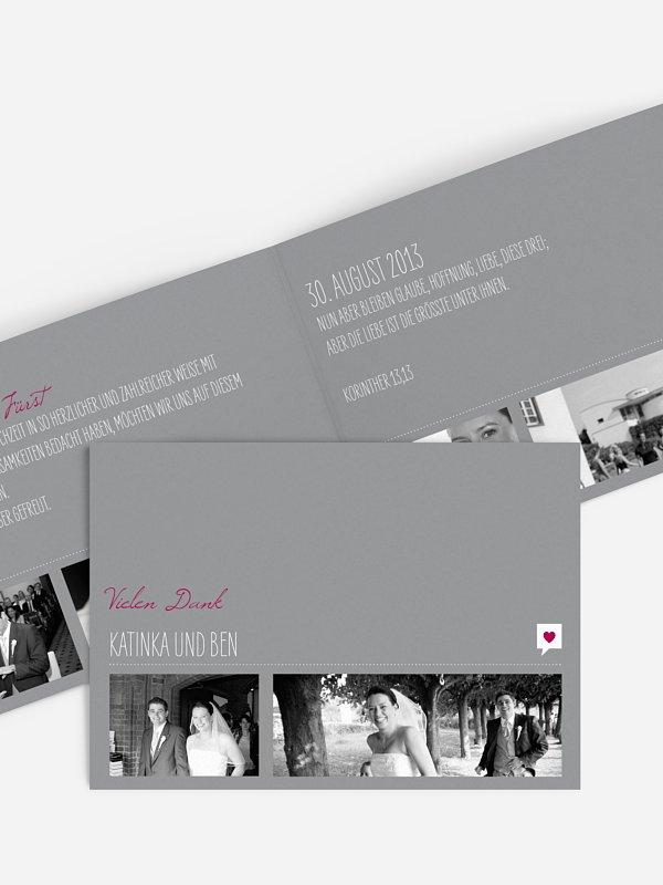 Dankeskarte Hochzeit Fotolinie