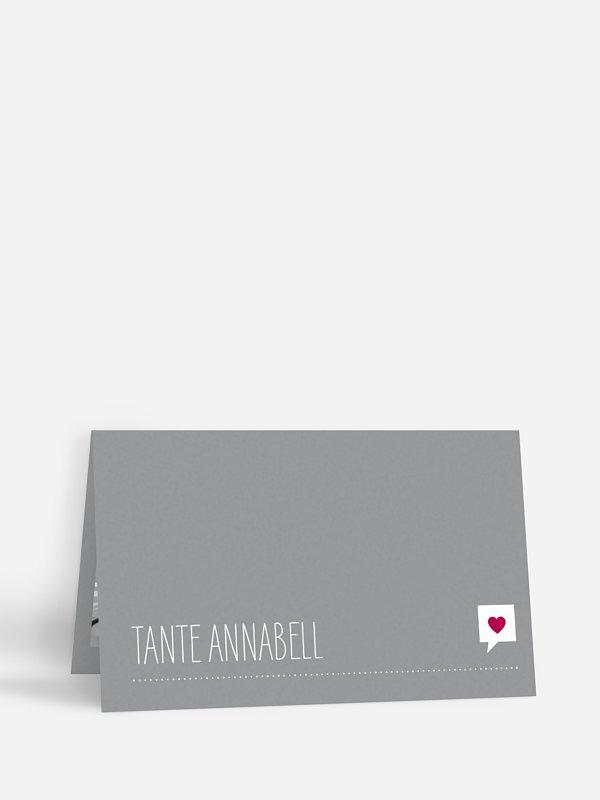 Tischkarte Hochzeit Fotolinie
