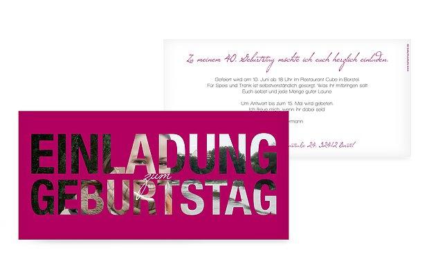 Einladung zum 40. Geburtstag: Einladungskarten gestalten