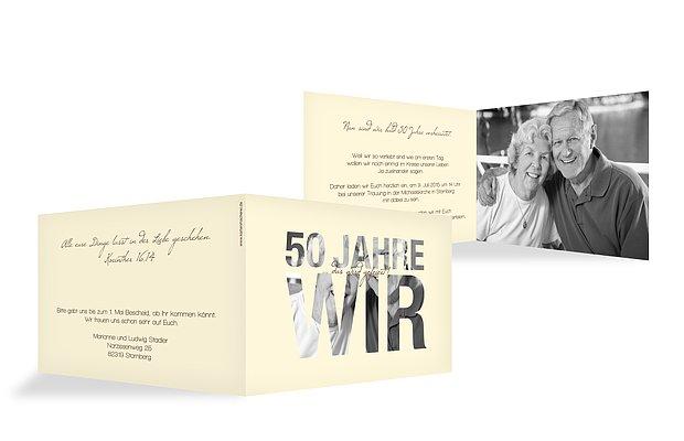 Einladungskarten für die Goldene Hochzeit – edel & individuell