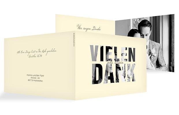 Dankeskarte Hochzeit Durchblick  C B Script