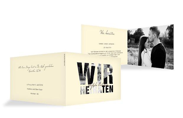 """Einladung zur Hochzeit """"Durchblick"""""""