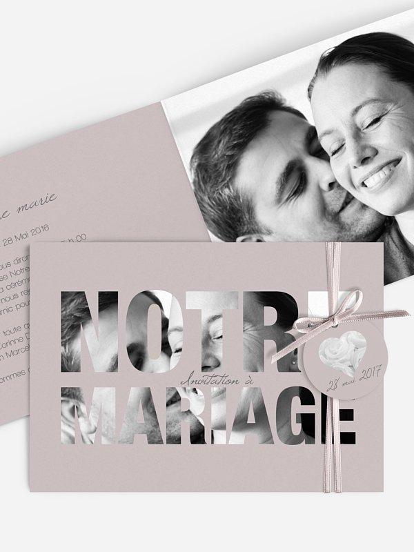 Faire-part mariage Pochoir