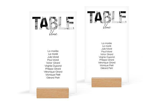 Nom de table mariage Pochoir