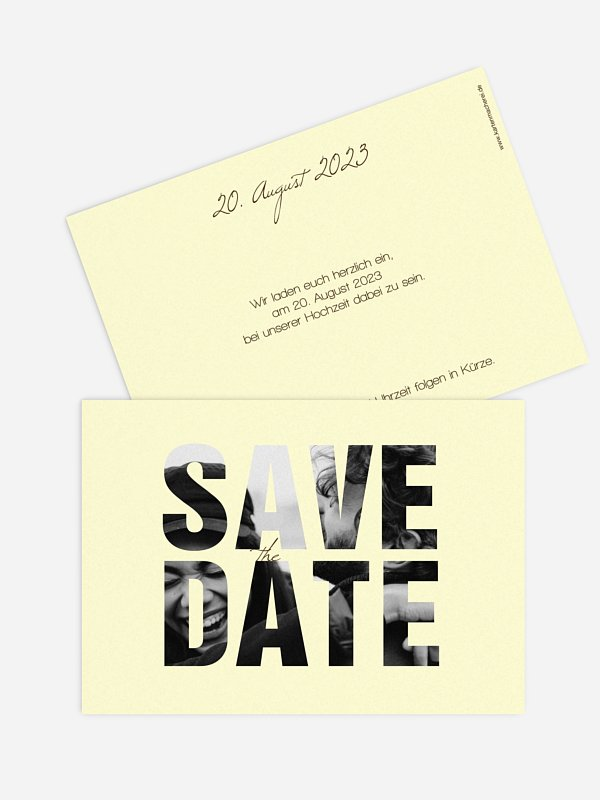 Save-the-Date Karte Durchblick